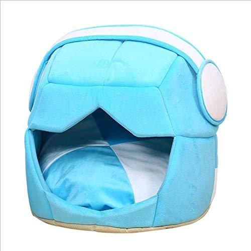 Hondenbed, huisdierbescherming, wasbaar, opvouwbaar, max. Wasmachine, geschikt voor 10 kg, L, Blauw