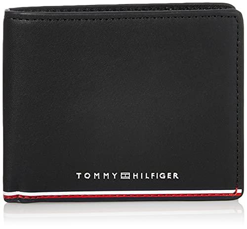 Tommy Hilfiger TH Commuter Mini CC Wallet,  Accesorio Billetera de Viaje para Hombre,  Black,  Talla única