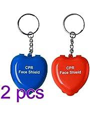 EXCEART 4Pcs Llavero CPR Protector facial con válvula de respiración unidireccional Barrera CPR Llavero Kit de emergencia Escudos de rescate boca a boca para primeros auxilios