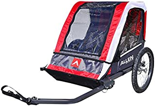Allen Sports Deluxe 2-Child Steel Bicycle Trailer - Red, Model AST202
