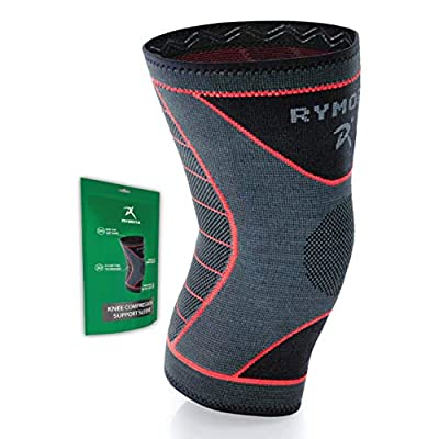 Rymora Knee Brace - Compression Sleeves for Men & Women - Comfortable & Secure Sleeve Supports for Weightlifting, Fitness, Running, Sports & Weak Joints (L)