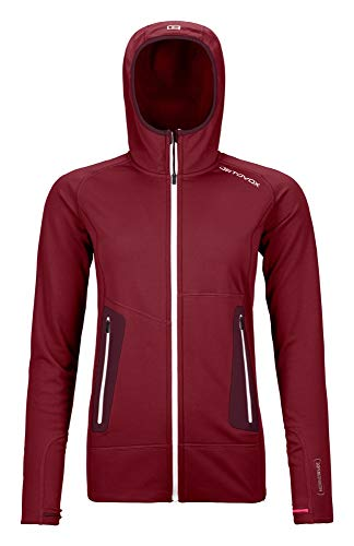 Ortovox Damen Hoody Fleece Light, Dark Blood, M, 8718600018