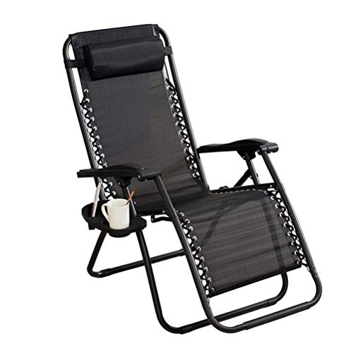 Dbtxwd Folding Zero Gravity Chair/Reclining Sun Lounger with Head Pillow for Patio, Outdoor, Conservatory or Deck Chair