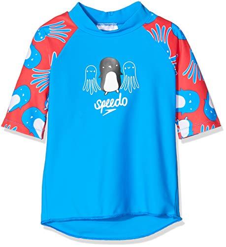 Speedo - Camiseta Unisex para bebé, Top de Sol, Unisex bebé, Color Reflectr Ray Bril BLU/Lav, tamaño 6 años