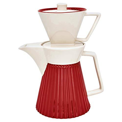 GreenGate STWCOFWAALI1002 Alice Kaffeekanne mit Filteraufsatz red 25 cm (1 Stück)