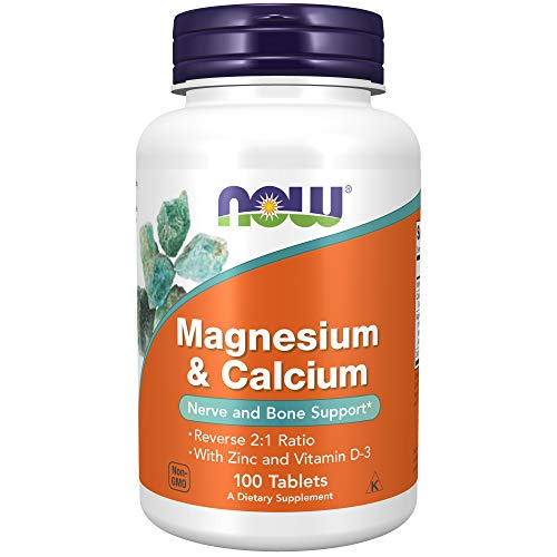 Magnesium & Calcium, With Zinc and Vitamin D3 - 100 tablets 0733739012777 NOW1277