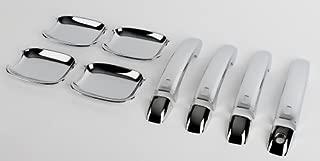 t/ürgri ffmulden Couverture Capuchons Accessoires pour Audi Q3/Q5/Chrome Poign/ée de porte blenden