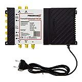 Bild des Produktes 'PremiumX PXMS 5/4 Multischalter mit Netzteil Multiswitch 1 SAT für 4 Teilnehmer Satverteiler Digital HDTV FullHD 4K'