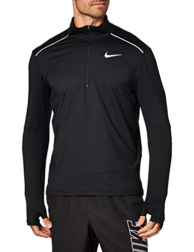Nike Herren Element Half-Zip 3.0 Trainingsshirt, Black/Reflective Silver, M