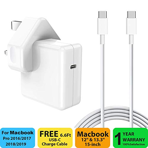 30W USB C Power Delivery (PD) Wall Charger, 30W USB C Charger Adapter Compatible with MacBook 2015Late 12-inch & Macbook Air Charger 2018Late Work with 30W & 29W USB C Tablets & iPhone 11 & iPad Pro