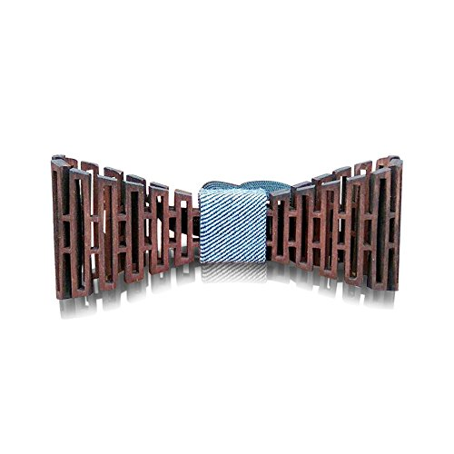 Wooden Bow Tie - 3D Unique Design Holiday Wedding Wood Bowtie - Perfect Wooden Mens Necktie + Gift...