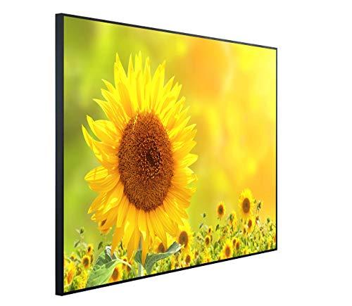 InfrarotPro C41-1200 | Infrarotheizung 1200 Watt Bildheizung 300+ Motive | Made in Germany | Geprüfte Technik | Ultra-HD Auflösung, C06: Blumen Sonnenblume, 115x100x3cm