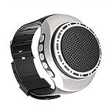 Altavoces portátiles Bluetooth, Mini Altavoz inalámbrico, Reloj de Pulsera Altavoz BT, Altavoz portátil Colorido LED Adecuado para Deportes, Viajes al Aire Libre (Negro)