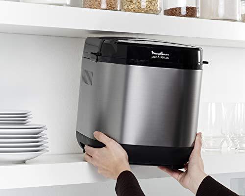 Moulinex Brot/Flower Delight Brotbackautomat mit Funktion Joghurt Metall/schwarz 1kg 720W - 10