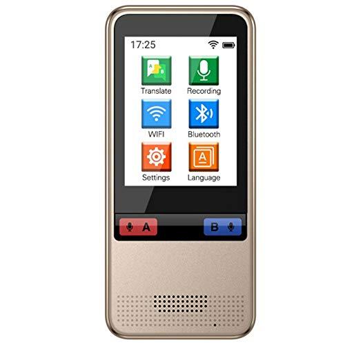 WOGQX Traduttore Istantaneo Scanner di Lingue Vocali, Dispositivo di Traduttore di Lingue Offline Touch Screen HD da 2,4 Pollici 45 Traduttore di Lingue Intelligente Traduttore Vocale,2