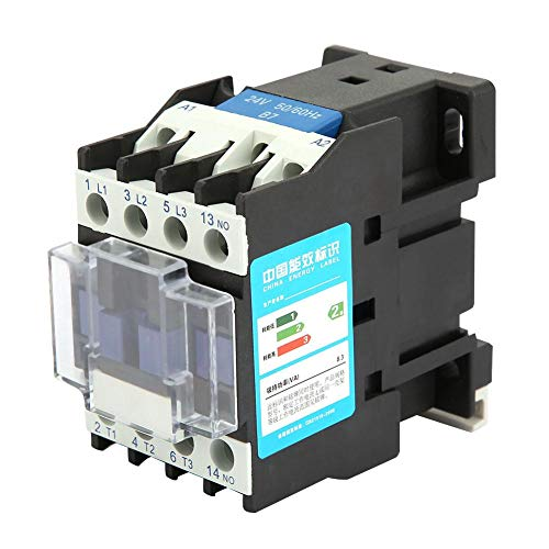 Contactor de AC Interruptor de aire industrial Aire acondicionado industrial Protección contra fugas Montaje en carril DIN CJX2-1210 24V DC / 36V DC / 48V DC / 110V AC / 380V AC 12A(24VDC)