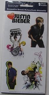 Justin Bieber Decorative Decals 2-pack Sheet