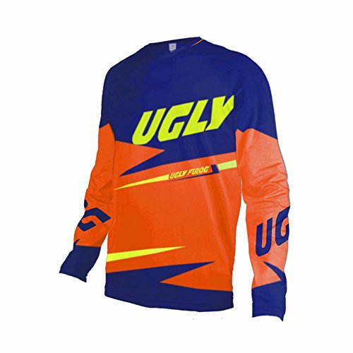 Uglyfrog Bike Wear Atmungsaktiv Trendy Herren Downhill/MTB Jersey Mountain Bike Shirt Fahrradtrikot Langarm Freeride BMX Fr¨¹Hling Top F06