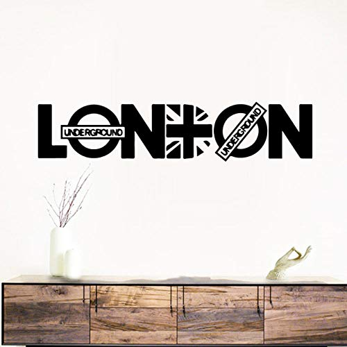 kldfig Pretty LONDON zelfklevende vinyl waterdichte wandtattoo voor wooncultuur woonkamer slaapkamer sticker wandschilderij 58 * 12cm