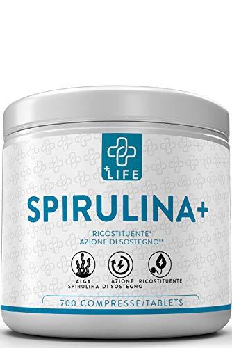 PIULIFE Spirulina+  700 Compresse da 500mg  Alga Naturale in Polvere Essiccata a Freddo  Ricca di Clorofilla, Proteine, Aminoacidi Essenziali e Vitamine