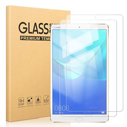 Pnakqil [2 Piezas Protector de Pantalla para Huawei Mediapad M5 8.4 Protector de Cristal Vidrio Templado Premium Transparencia HD [Anti-arañazos] [No Burbujas] para Huawei Mediapad M5 8.4 Pulgadas