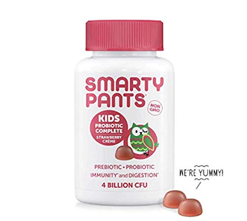 SmartyPants Kids Probiotic Complete; Probiotics & Prebiotics; Digestive & Immune Support* Gummies; 4 billion CFU, Strawberry Crème; 45 Count