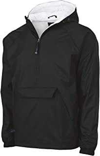 Unisex-Adult's Wind & Water-Resistant Pullover Rain Jacket (Reg/Ext Sizes)