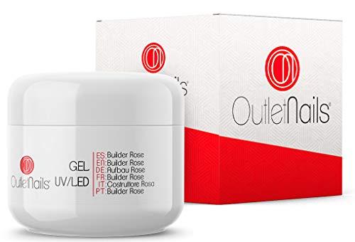 Gel Builder Rose UV/LED 50ml uñas gel | Outlet Nails