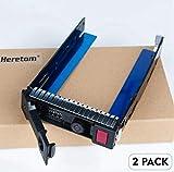 Heretom - Lote de 2 bandejas de disco duro de 3,5 pulgadas 651314-001 651320-001 Caddy SAS/SATA LFF para HP DL160 DL360 DL560 DL380 DL385 DL388 ML310 ML350 SL250 Gen8 Gen8 y más