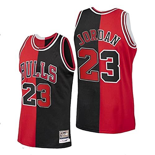 TINKOU Camiseta de la NBA, Camiseta de Baloncesto Retro n. ° 23, Camiseta Bordada Unisex Transpirable Resistente al Desgaste