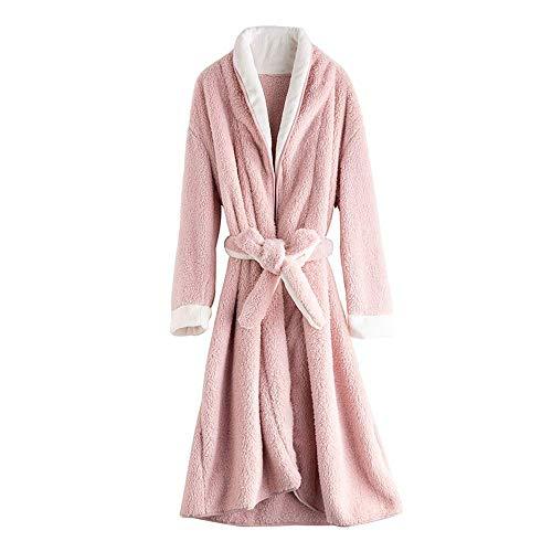 GNLIAN HUAHUA Homewear Trajes de Invierno Albornoz Mujeres camisón Largo Traje del Balneario Batas Salón Pijama Ropa de Invierno Pueden ser Usados Fuera de Homewear Vendaje