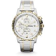 Reloj Fossil Dean para Hombres 45mm, pulsera de Acero Inoxidable