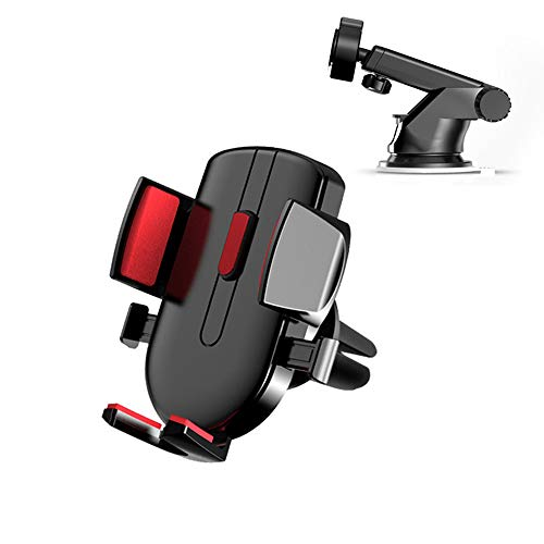YMoon Universal car Phone Holder, Phone Holder for car (Instrument Panel and air Outlet)(2 pcs)£¬Long-arm Strong Suction Mobile Phone car Holder,Mat for iPhone, Samsung, Smartphone