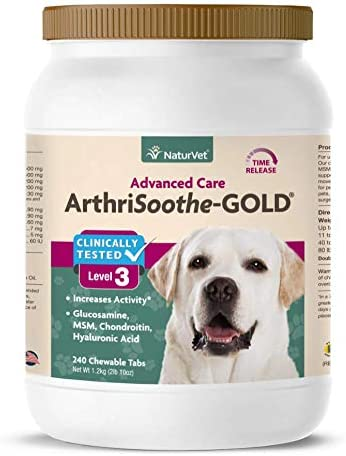 Award NaturVet Product Clinically Tested ArthriSoothe-GOLD Level Jo Advanced 3