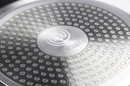 MasterChef 525504 Wok, Revestimiento Antiadherente, Asas ergonómicas, Resistente al Calor, 28 cm, Aluminum