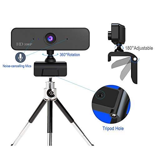 videoconferentiecamera, 2 MP CMOS-webcam met een brandpuntsafstand van 60 cm, kop 360 ° draaibaar, ondersteuning voor Win 2000/XP/7/8/10/Vista, buigen en staan