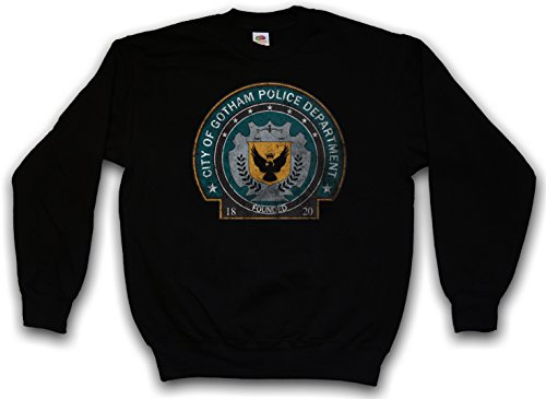 Urban Backwoods Gotham Police Department Logo Sweatshirt Pullover Sweater Pull Noir Taille M