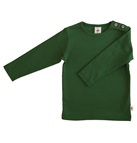 Leela Cotton Baby/Kinder Langarm-Shirt Bio-Baumwolle, Moosgrün, Gr. 86/92