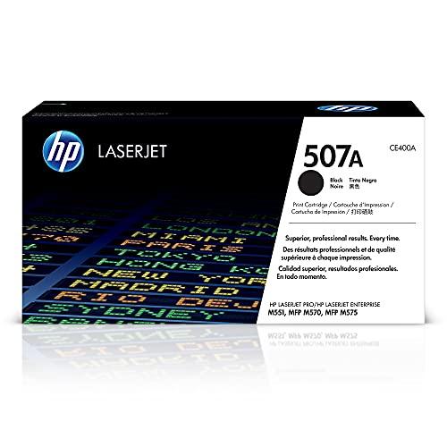 HP 507A   CE400A   Toner-Cartridge   Black   Works with HP LaserJet Enterprise 500, 551, 570 series
