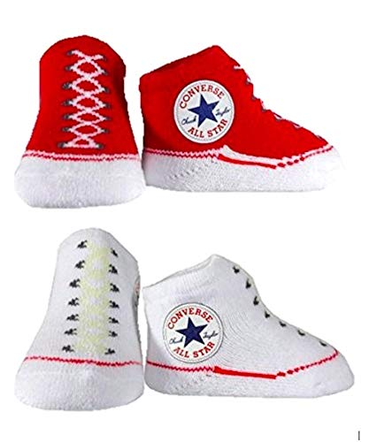 11318203-CNV001 TWIN PACK BOOTIE RED/WHT PLU 116A Colour: RED/WHITE / Size: ONE SIZE /