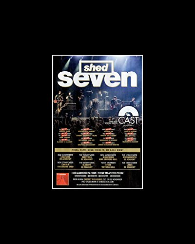 Shed Seven - UK Tour 2017 Plus Sold Out Mini Poster - 25.4x20.3cm