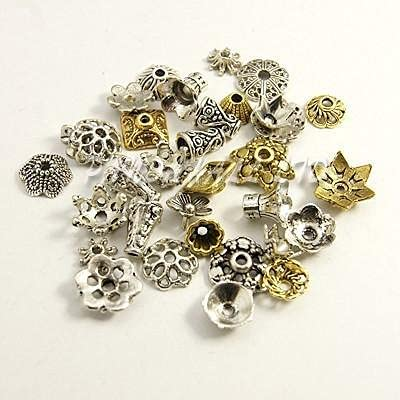 FC-16399 DIY-Jewelry Tibetan Bead Caps discount Shape A Outstanding Mixed Color