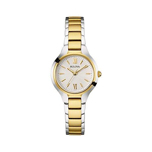 Bulova orologio da donna design in acciaio INOX–oro bicolore da classico vestito orologio da polso 98L217