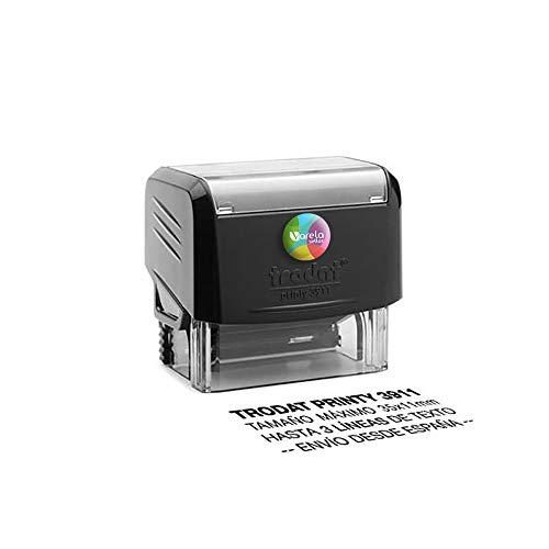 Sello Personalizado Trodat 3911, Sello de caucho con tinta, Sello autoentintable personalizado, Sello automático, Sello Empresa, Sello dirección (35 x 11 mm)