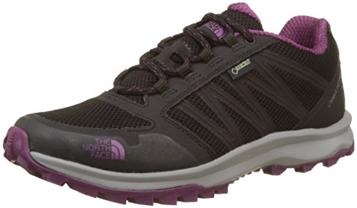The North Face Damen Litewave Fastpack Gore-Tex Sneaker, Mehrfarbig (Tnf Black/Amaranth Purple), 42 EU