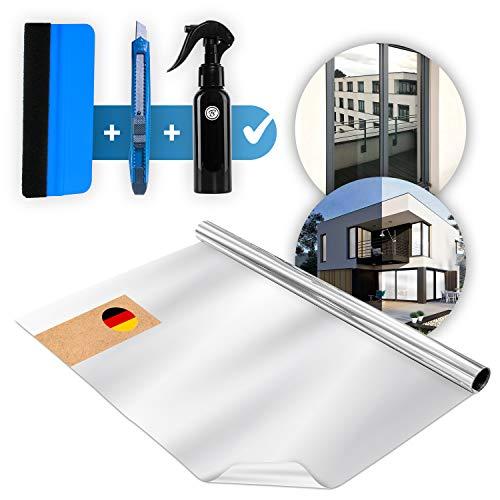 Bakoni [Einführungsangebot 2021] 60 x 200 cm , UV-Schutz Sonnenschutzfolie Fenster, Spiegelfolie Selbstklebend Sichtschutz, Reflektierende Fensterfolie Wärmeisolierung , Sonnenschutz Folie