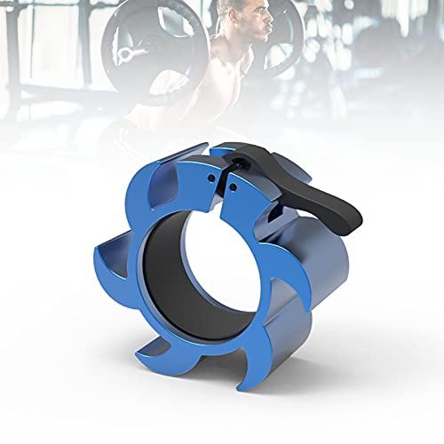 Metalicas Abrazaderas para Mancuerna, Olímpicas Sujeta Discos con Bloqueo, Liberación Rápida para Entrenamiento De Fuerza Accesorios,Azul