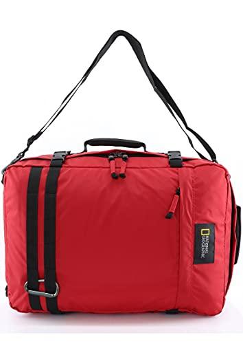 National Geographic - Mochila Unisex National Geographic Hybrid con Un Compartimento En Color Rojo