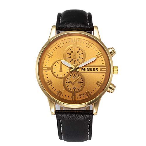 Hansee Herren-Armbanduhr, modisch, klassisch, lässig, minimalistisch, Geschenk, Legierung Gr. Einheitsgröße, Schwarz
