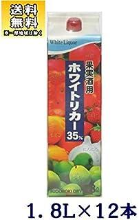 〔焼酎甲類〕 35度 轟醸造 ホワイトリカー 1.8Lパック 12本 (1800ml)(果実酒用)(トドロキ醸造)